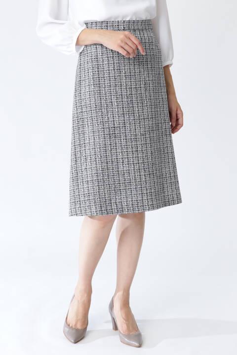 【先行予約 2月上旬-2月中旬入荷予定】MIXツィードスカート