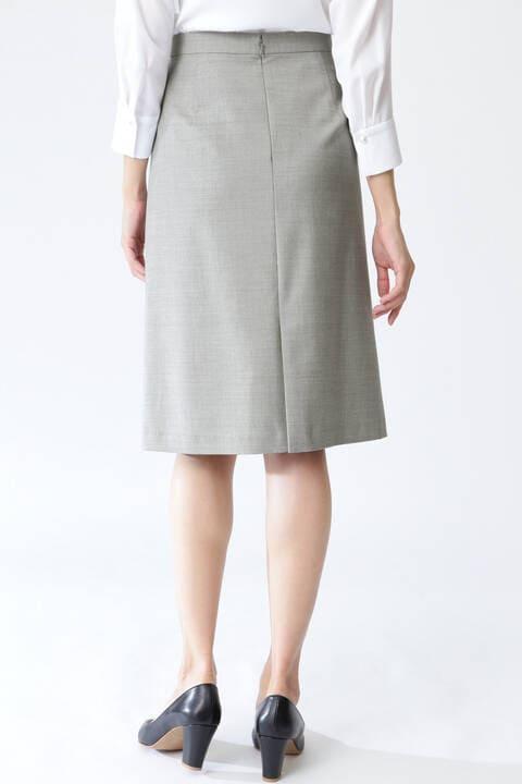 [ウォッシャブル]TRストレッチツイルウォッシャブルスカート