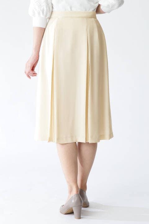 【先行予約 3月上旬-中旬入荷予定】ソフトジョーゼットプリーツスカート