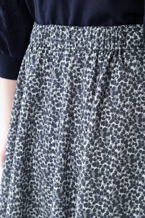 [ウォッシャブル]ジオメトリックリーフリバティプリントスカート
