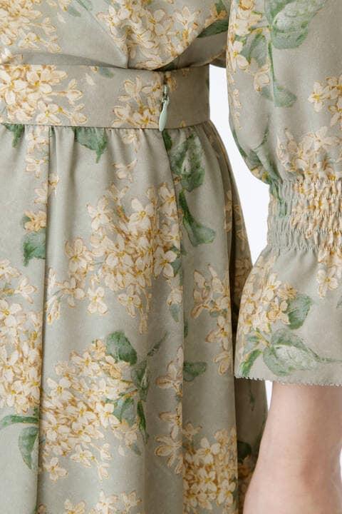 [ウォッシャブル]ライラックリバティプリントスカート