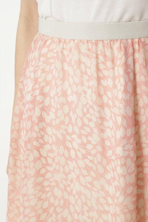 [ウォッシャブル]グラフィカルフラワープリントスカート