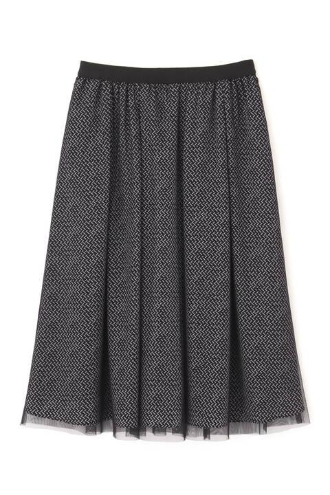 ジオメトリックリバープリントスカート