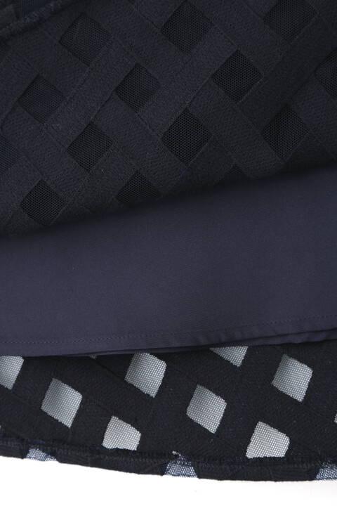 チュールチェック刺繍スカート