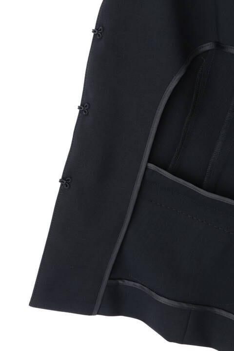 [ウォッシャブル]RELAツイルVノーカラージャケット
