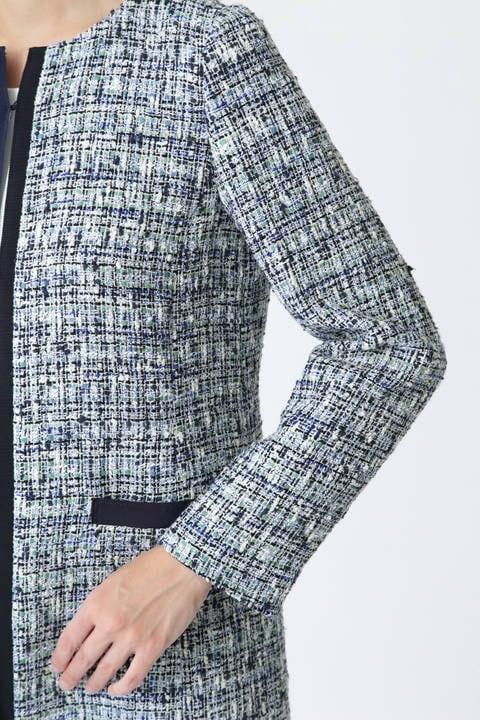 ツィードロングジャケット