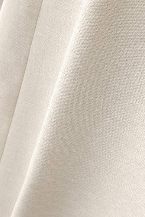 [ウォッシャブル]麻調ノーカラーベルト付きコート