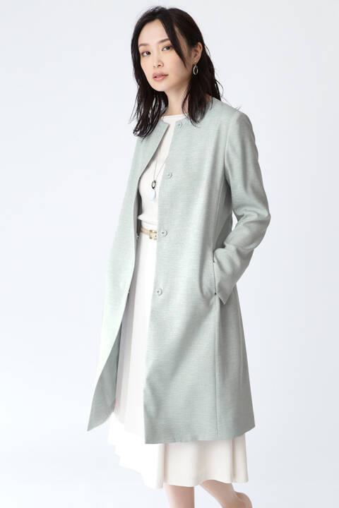 【先行予約 2月中旬-下旬入荷予定】[ウォッシャブル]リネンオックスノーカラーベルト付きコート
