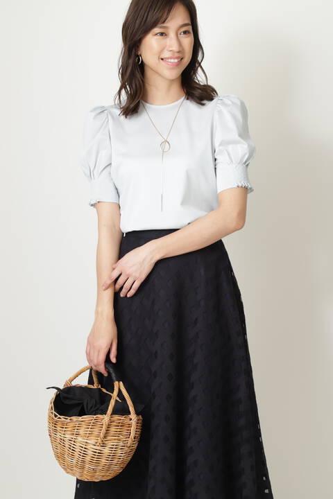 [ウォッシャブル]パフスリーブカットソー