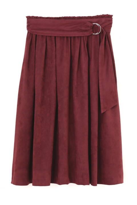 【CLASSY 11月号掲載】【新井恵理那さん着用】エルモザスエードスカート
