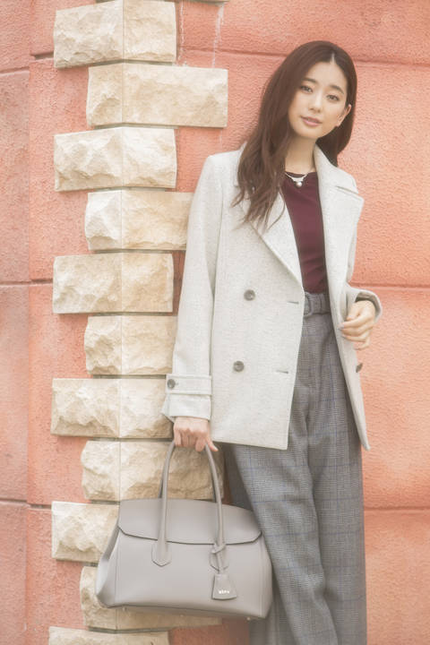 【CLASSY 11月号掲載】MIXウールニットPジャケット