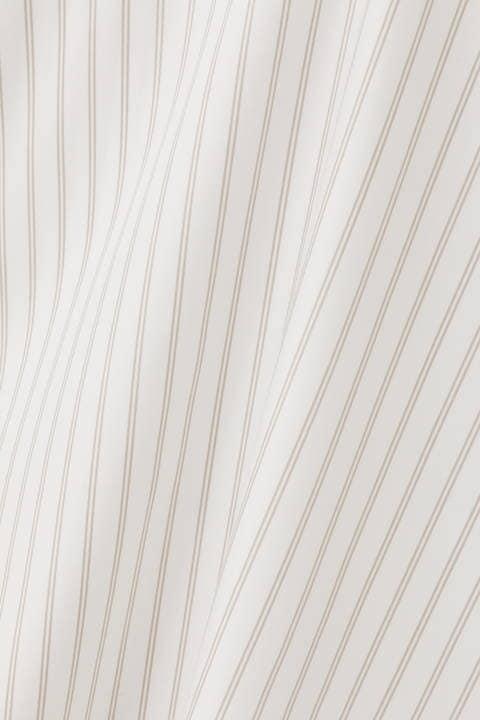【竹内由恵さん着用】[ウォッシャブル]レールストライプブラウス