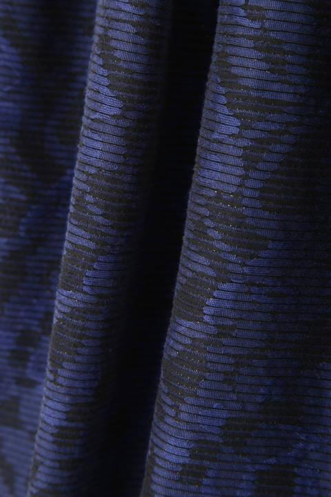 フラワーボーダージャガードスカート