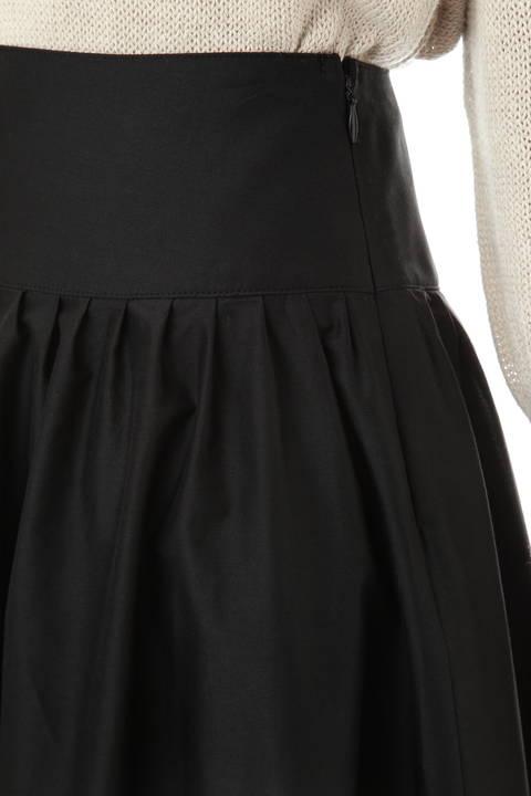 [米沢×ミモレ大草直子編集長コラボ商品]シルク交織シャンブレースカート