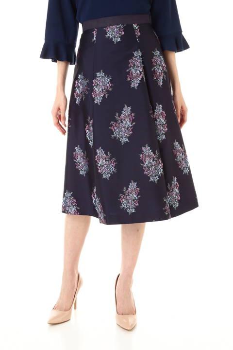 【友利新さん着用】《Purpose》カットワークフラワージャガードスカート