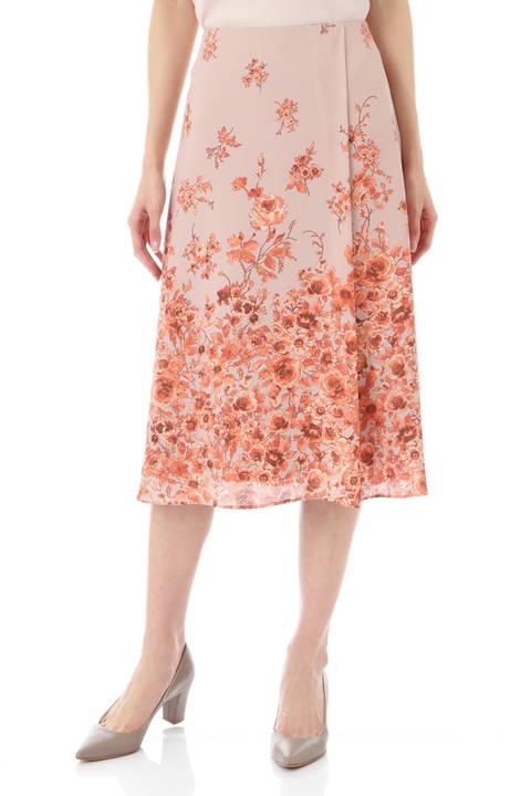 [ウォッシャブル]フローラルプリントスカート