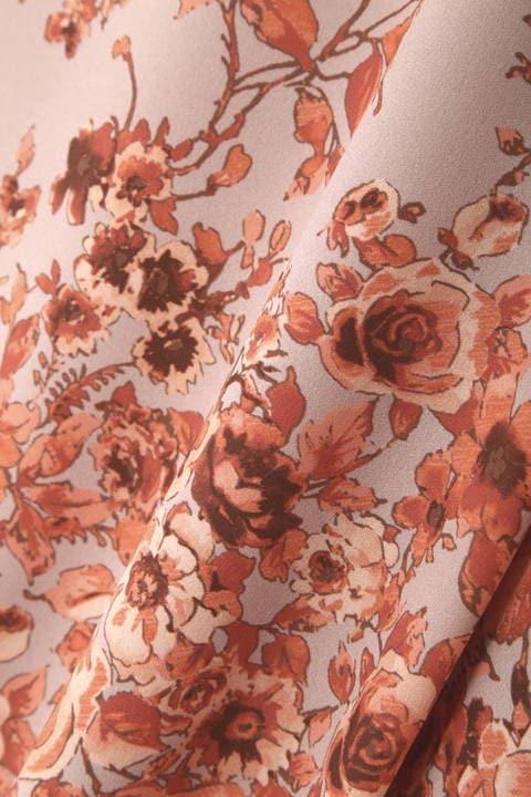[ウォッシャブル]《Purpose》フローラルプリントスカート