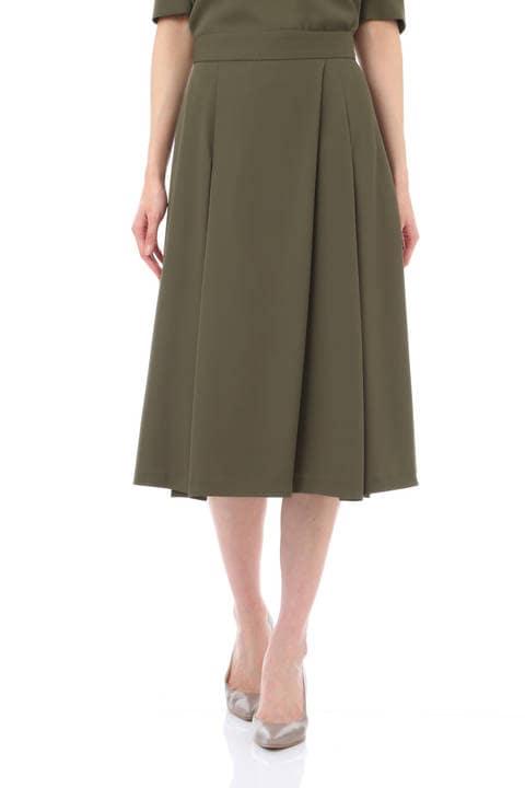 【竹内由恵さん着用】[ウォッシャブル]ドビークロススカート