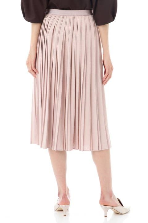 【竹内由恵さん着用】[ウォッシャブル]コットンライクジャージースカート