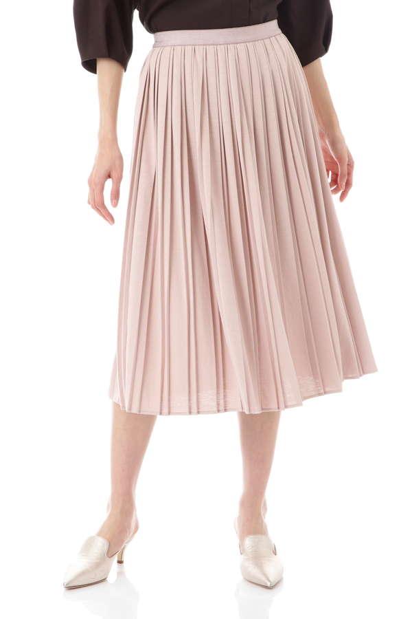 【先行予約 4月下旬 入荷予定】[ウォッシャブル]コットンライクジャージースカート