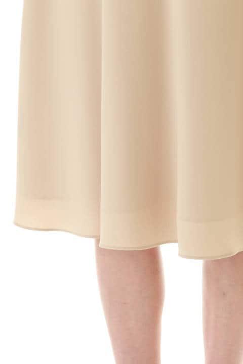 [ウォッシャブル]ヌーディバックサテンスカート
