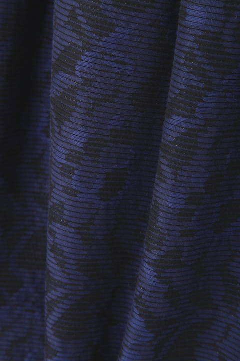 フラワーボーダージャガードワンピース