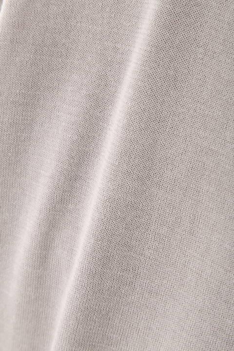 [ウォッシャブル]布帛コンビハイゲージニット