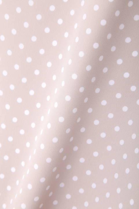 【宇賀なつみさん着用】[ウォッシャブル]シルデュードットブラウス