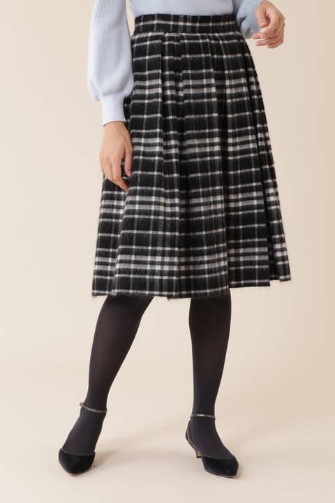 【新井恵理那さん着用】モヘアシャギーチェックスカート