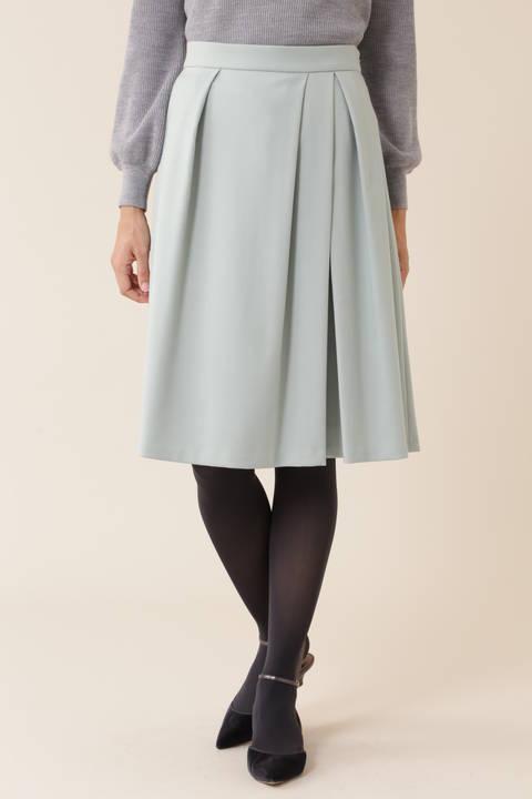 【先行予約 10月下旬-11月上旬入荷予定】タックフレアカラースカート
