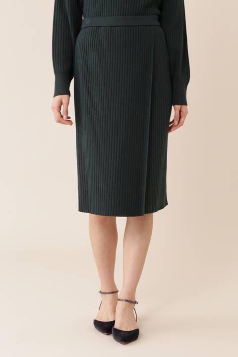 【先行予約 11月下旬-12月上旬 入荷予定】[WEB限定商品]総針針抜きニットセットアップスカート