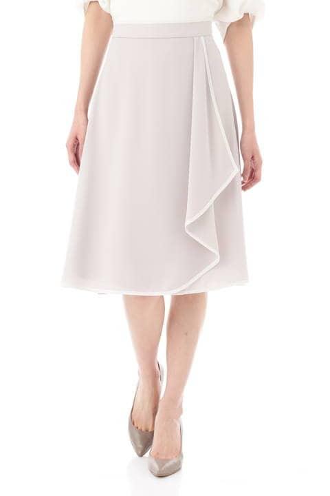 【宇賀なつみさん着用】[ウォッシャブル]スポンジジョーゼットスカート
