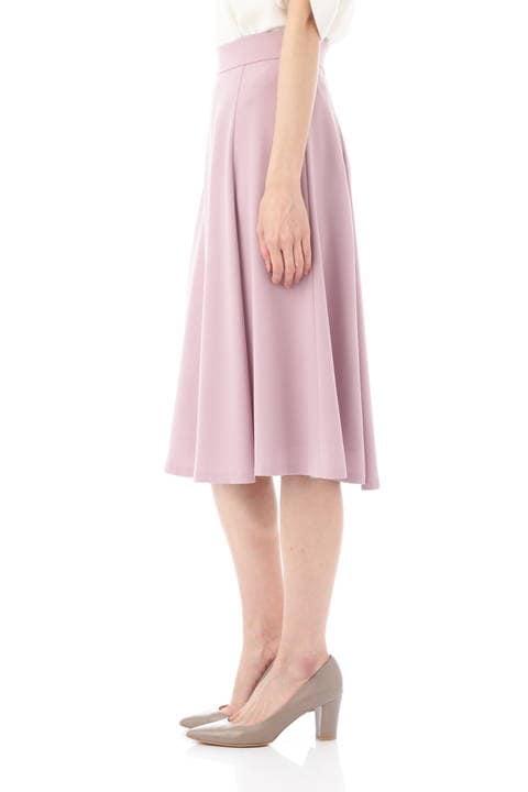 [ウォッシャブル]バックサテンジョーゼットスカート