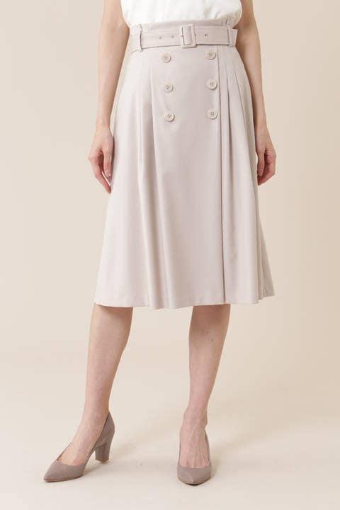【宇賀なつみさん着用】[ウォッシャブル]マイクロギャバストレッチスカート