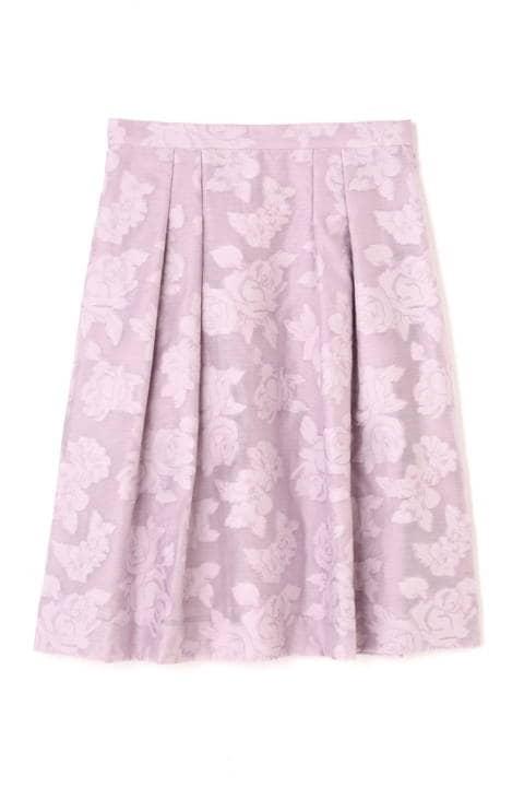 フラワーカットジャカードスカート