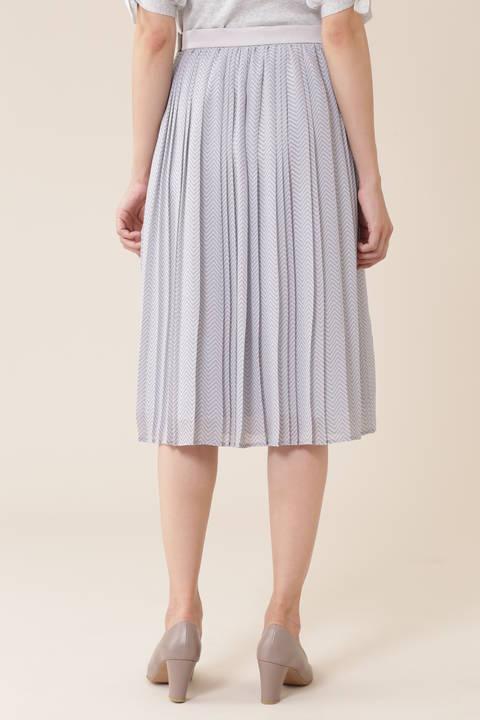 【宇賀なつみさん着用】《Purpose》ヘリンボンプリントスカート