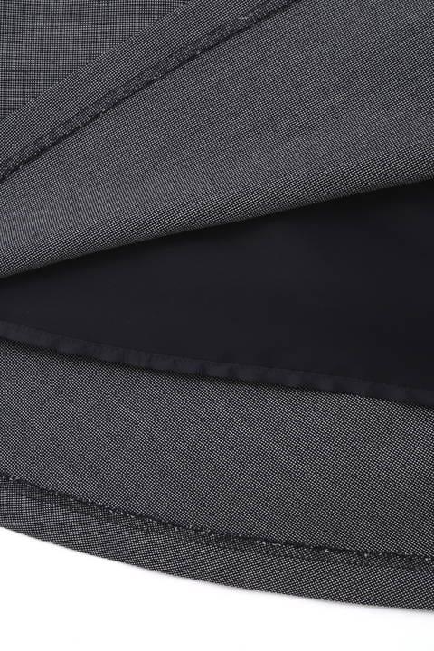 【宇賀なつみさん着用】[ウォッシャブル]ピンヘッドスカート