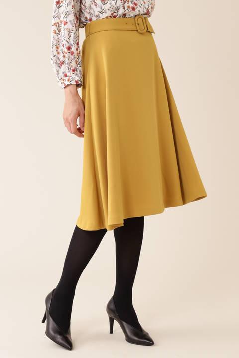 【新木優子さん着用】[ウォッシャブル]サテンツイルスカート