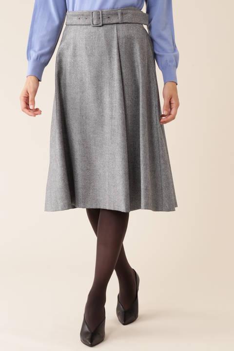 【久冨慶子さん着用】ELANツィードスカート