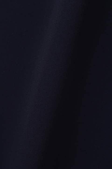 《Purpose》襟ぐりパールフレア切替袖Iラインワンピース