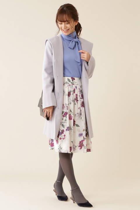 【新井恵理那さん着用】カシミヤ混フードコート