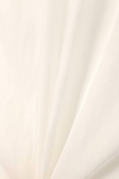 [ウォッシャブル]コットンツイルギャザー襟ノースリーブブラウス