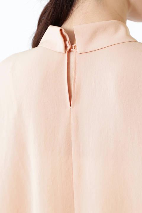 [ウォッシャブル]セレタリーツイル襟付ノースリーブブラウス