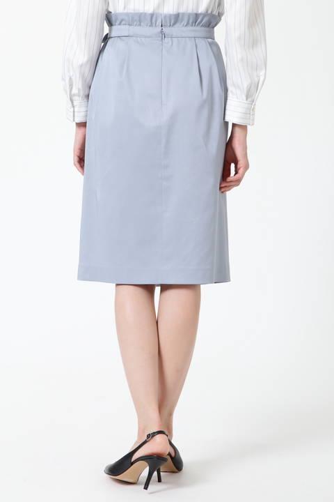 【アナウンサー 新井恵理那さん着用】アシンメトリータックラップスカート