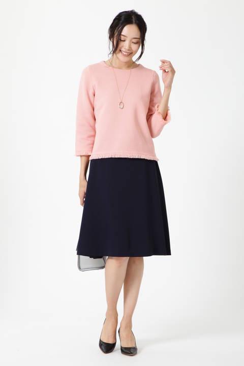【アナウンサー 新井恵理那さん着用】サテンストレッチサーキュラースカート
