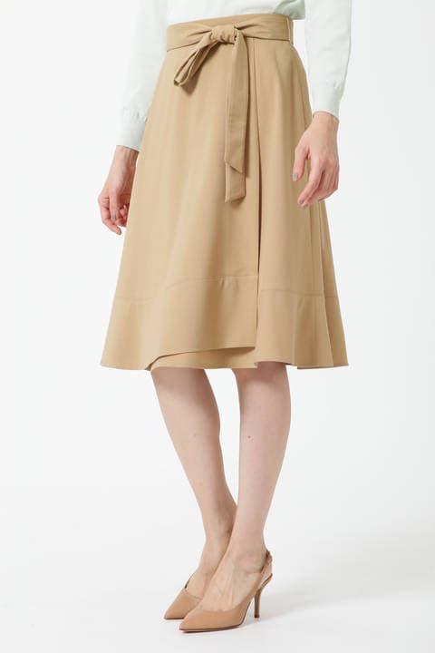 裾フレアラップスカート