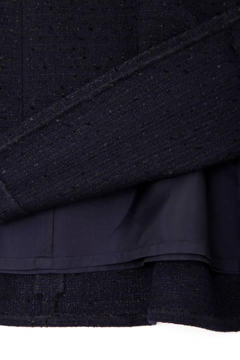シフォン使いツイードスカート