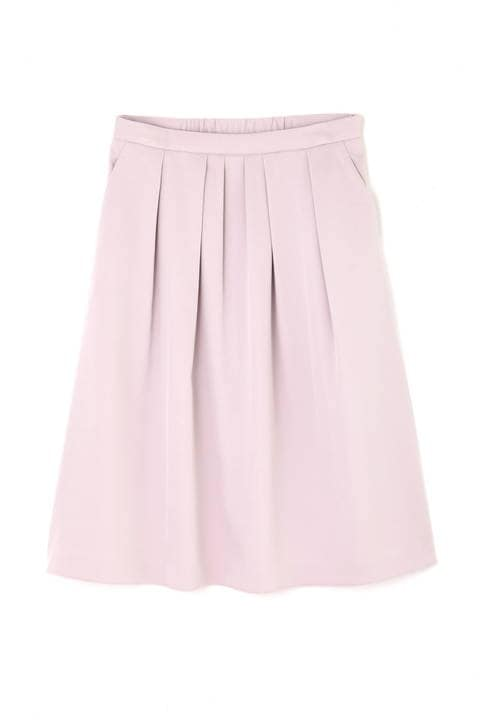 タックフレアカラースカート