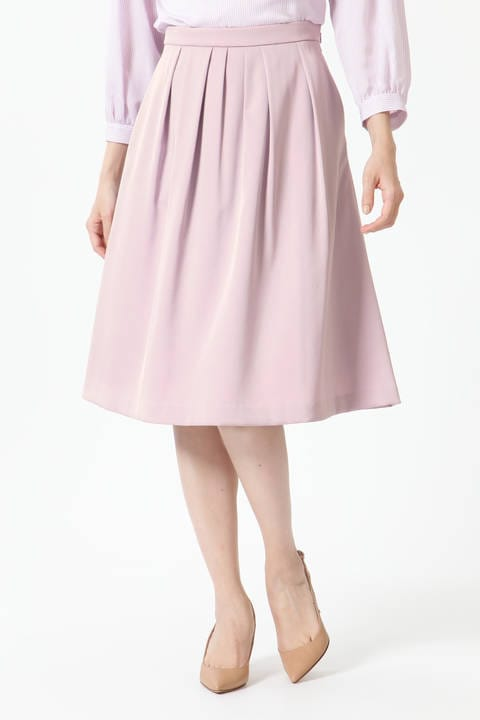 【先行予約 2月上旬-中旬入荷予定】タックフレアカラースカート
