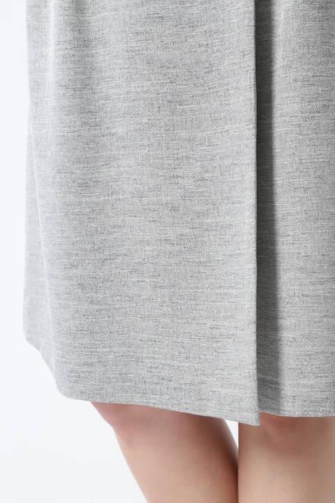 麻調バックル付ラップスカート